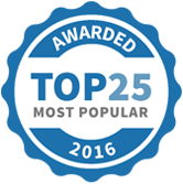 Top 25 Most Popular Home Improvement Specialists badge for 2016